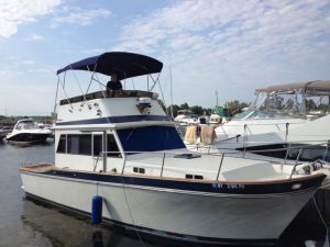 The installed bimini